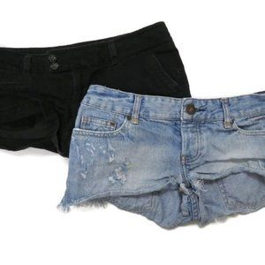 Lot of 2 American Eagle Womens Booty Jean Shorts